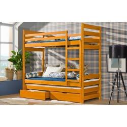 Łóżko piętrowe dziecięce Filip 3 os.